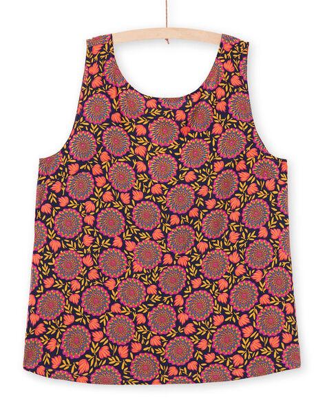 Camicia senza maniche con stampa a fiori donna LAMUMCHEM1 / 21S993Z1CHEC211
