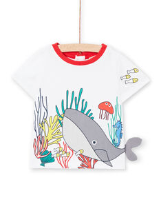 T-shirt ecrù neonato LUVITI1 / 21SG10U3TMC001
