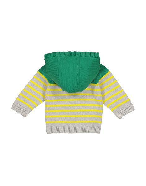 Cardigan con cerniera e cappuccio neonato FUCAGIL / 19SG10D1GIL099