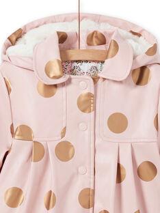 Impermeabile rosa a pois bambina MAPAIMPER / 21W90151IMPD332