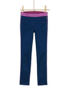 Jeans in maglia con elastico in vita in lurex KAECOJEAN / 20W901H1JEAP274