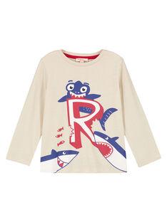 T- Shirt Maniche Lunghe Ecrù Melange GOJOTICHI6 / 19W902L5D32A011