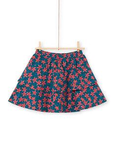 Gonna-shorts con stampa stella marina e con volant bambina LABONJUP1 / 21S901W2JUP716
