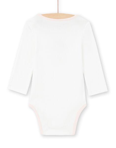 Body ecrù e rosa neonata MEFIBODJAR / 21WH13B3BDL001