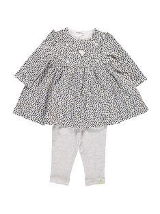 Baby girls' dress and leggings set DOU2ENS5 / 18WF05M5ENS099