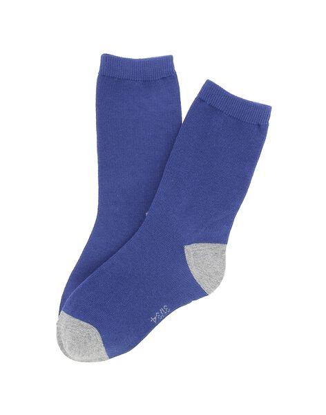 Boys' two-tone mid length socks DYOJOCHO10A / 18WI02J8SOQ208