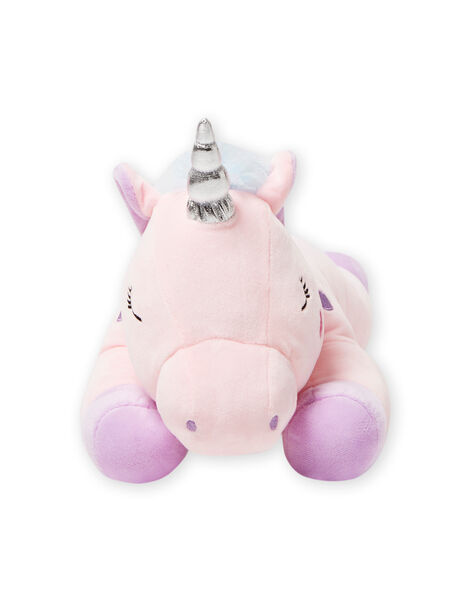 Peluche unicorno rosa con cuoricini viola JLicorne rose / 20T8GF1BPE2099
