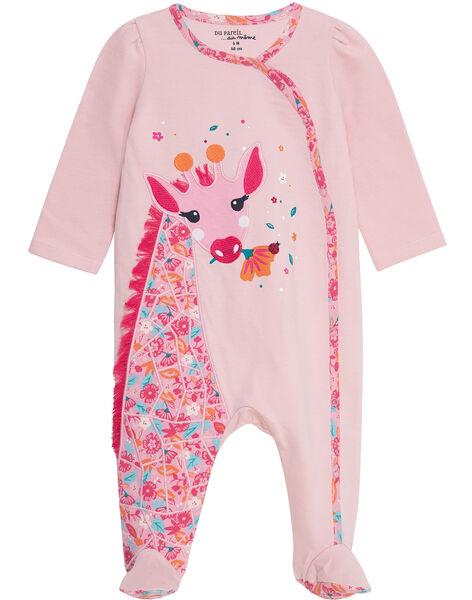 Tutina felpata neonata rosa chiaro JEFIGREGIR / 20SH13U3GRE321