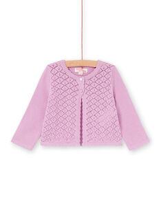 Cardigan rosa traforato neonata LIVICAR / 21SG09U1CAR320