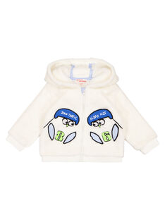 Cardigan soft boa ecrù neonato GUBLAGIL2 / 19WG10S2GIL001