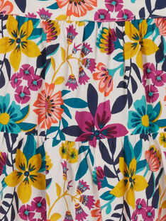 Abito stampa fiori colorati bambina LAMUMROB3 / 21S901Z1ROB009