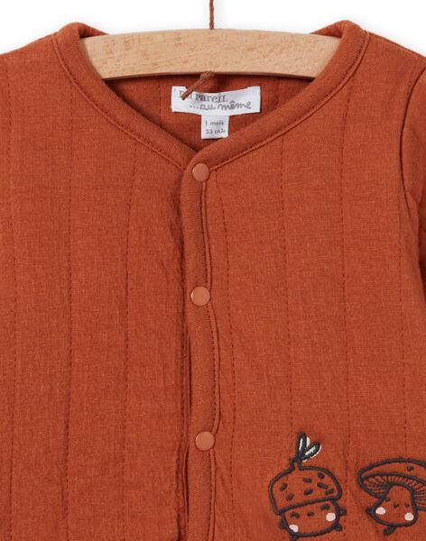Cardigan maniche lunghe marrone nascita unisex MOU1GIL1 / 21WF0542GILI810