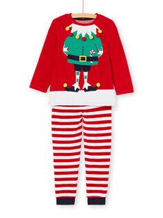 Pigiama bambino motivo elfo di Natale KEGOPYJNOLU / 20WH12R2PYJ050