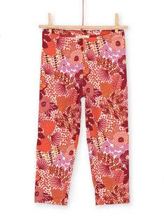 Leggings rossi bambina LYATERLEG / 21SI01V1CAL001