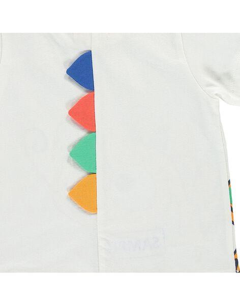 Baby boys' short-sleeved T-shirt CUGAUTI3 / 18SG10L3TMC001