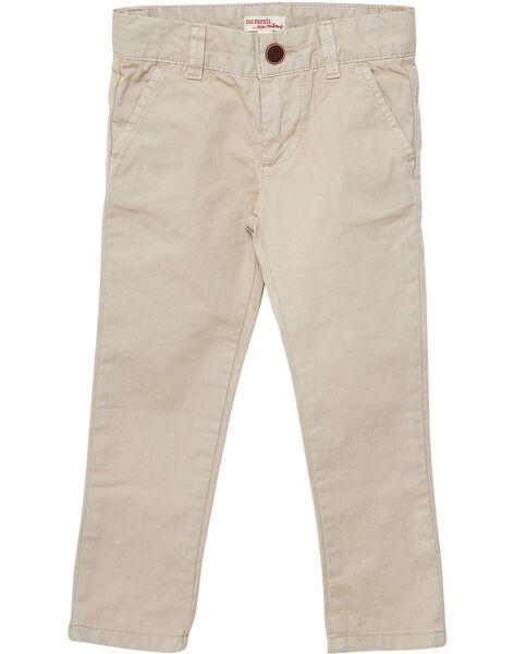 Pantaloni chino bambino beige JOJOPACHI1 / 20S90244D2B080