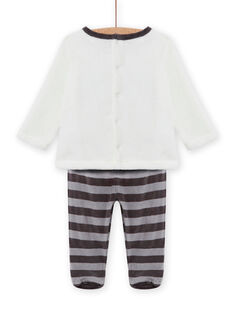 Set pigiama in soft boa motivo procione neonato MEGAPYJEUR / 21WH1491PYJ001
