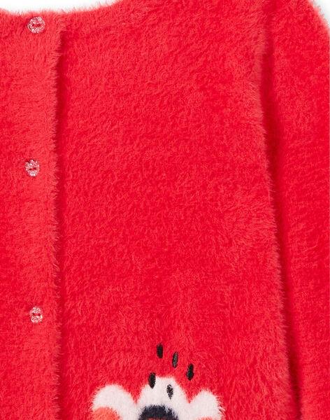 Cardigan maglia effetto piume double face a maniche lunghe LAROUCAR / 21S901K1PULF517