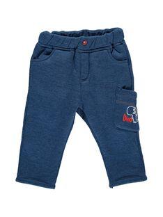 Baby boys' sherpa lined fleece trousers DUPINPAN1 / 18WG10P1PAN099