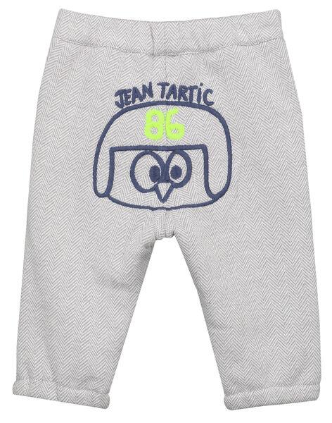 Pantaloni jacquard grigi neonato GUBLAPAN2 / 19WG10S2PAN001