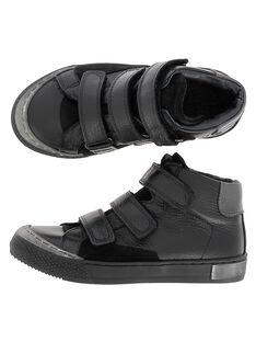 Boys' leather city trainers DGBASTRIV1 / 18WK36TAD3F090
