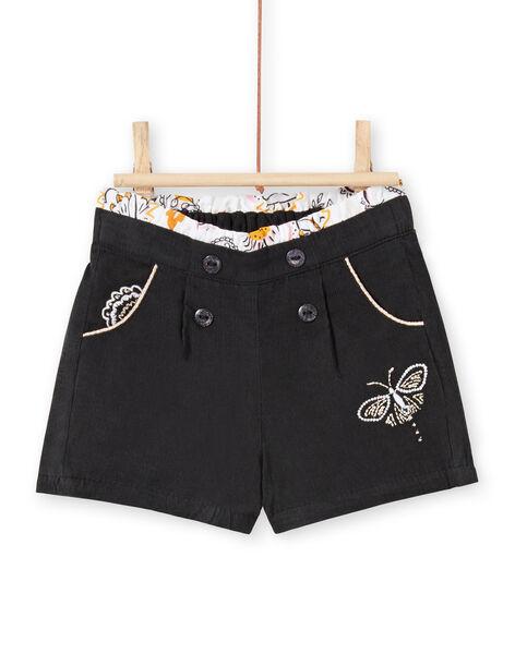Shorts antracite in velluto neonata LIPOESHO / 21SG09Y1SHOJ916