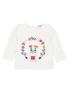 T-shirt maniche lunghe con volant neonata GINOTEE / 19WG09V1TML001