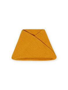 Scaldacollo in maglia a tinta unita giallo zafferano bambino MYOGROSNO1 / 21WI0252SNO113