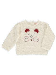 Baby girls' plush sweater DIPINPUL / 18WG09P1PUL001