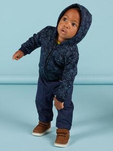 Cardigan blu e nero con stampa spazio neonato MUPLAGIL / 21WG10O1GILC243