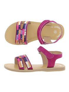 Girls' leather sandals CFSANDSEQ / 18SK35WED0E304