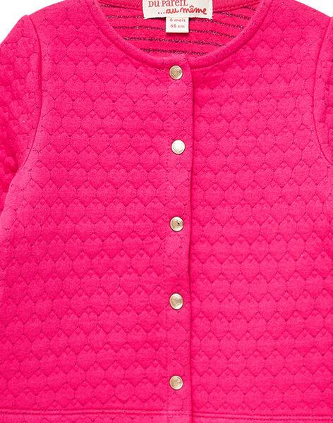 Cardigan rosa neonata JIJOCAR2 / 20SG0952CARF507