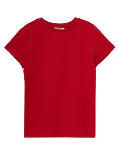 T-shirt maniche corte tinta unita bambino rossa JOESTI4 / 20S90264D31F505
