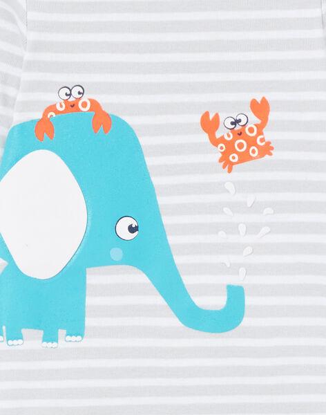 Body corredo bambino a maniche lunghe a righe elefante LEGABODELE / 21SH1423BDL000