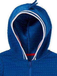 Cardigan con cappuccio blu e bianco neonato LUCANGIL / 21SG10M1GIL217