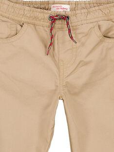 Pantaloni con fodera jersey nocciola GOTRIPAN2 / 19W902J2PANI807