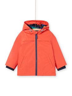 Impermeabile con cappuccio arancione 3 in 1 bambino LOGROIMP1 / 21S902R2IMPE414