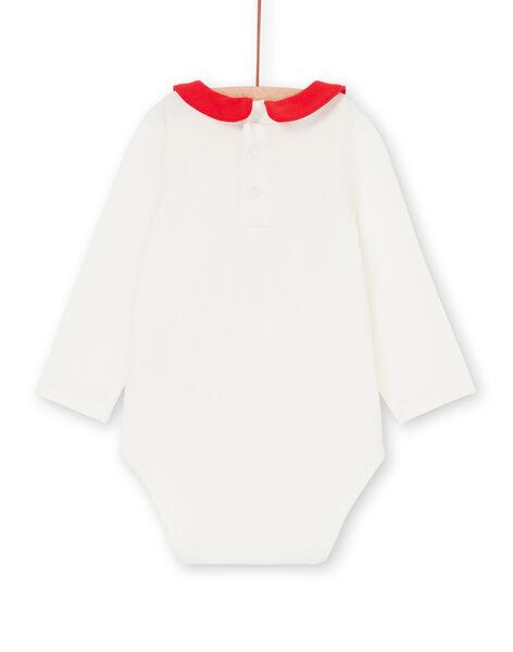 Body ecrù e rosso neonata LIHABOD1 / 21SG09X2BOD001