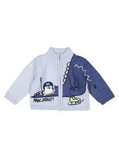 Cardigan jersey knit acqua neonato GUBLAGIL1 / 19WG10S1GIL213