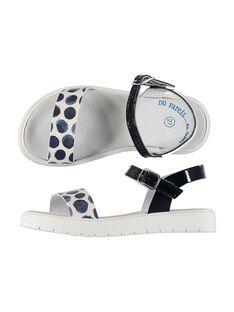 Sandali da città bicolore bambina FFSANDJANE / 19SK35B2D0E070