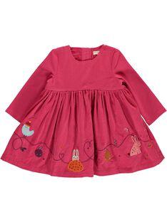 Girls' velour dress DIPINROB2 / 18WG09P3ROB302
