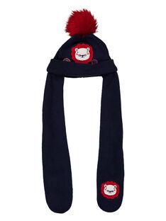 Berretto sciarpa con pompon GYITRIBON / 19WI09J1BON070