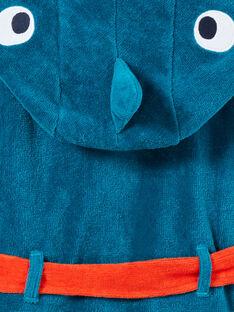 Accappatoio bambino in spugna turchese motivo squalo LEGOPEIREQ / 21SH1251RDCC217
