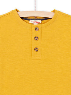 T-shirt gialla bambino MOJOTUN2 / 21W90213TML113