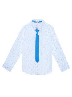 Camicia bianca con stampa bambino JOSOCHEM1 / 20S90282CHM000