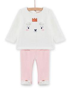 Set pigiama in soft boa motivo orsetto neonata MEFIPYJOUR / 21WH1391PYJ001