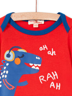 T-shirt rossa e blu neonato LUCANTEE1 / 21SG10M1TMLF505