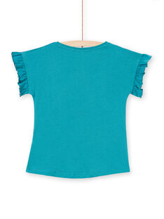 T-shirt petrolio bambina LAVERTI2 / 21S901Q1TMCG621