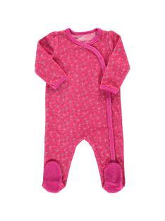 Baby girls' velour sleepsuit CEFIGREFRU / 18SH1344GRE099