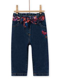 Jeans e cintura con stampa a fiori neonata MIPAPAN / 21WG09H2PANP274